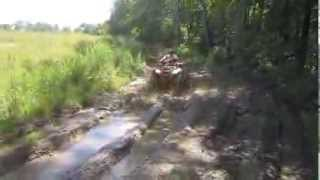 5. Herb Running Through a Mud Pit on His 2008 Honda Recon ATV Four Wheeler