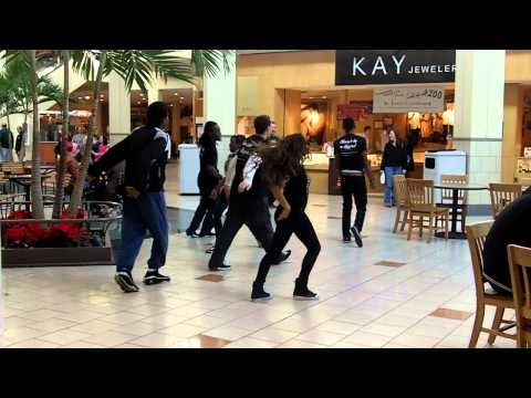 Mall Cop tries to interrupt Party Rock Shuffle Flash Mob!!! Too Funny