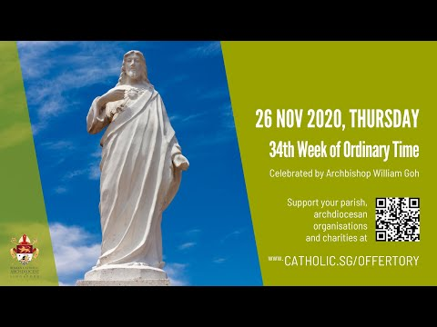 Catholic Weekday Mass Today Online - Thursday, 34th Week of Ordinary Time 2020