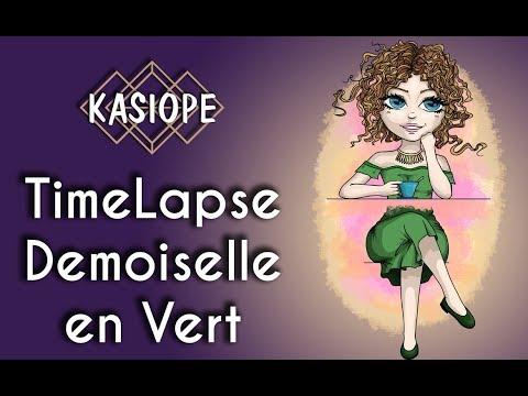 TimeLapse Demoiselle à la robe verte
