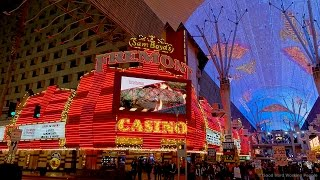 --- http://MovingPostcard.com --- Downtown Las Vegas, centered around Fremont Street, is the historic alternative to the Las Vegas Strip. It's where it all b...