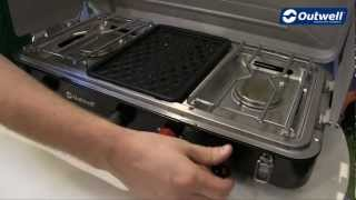 Chef Cooker 3-Burner Stove w/Grill
