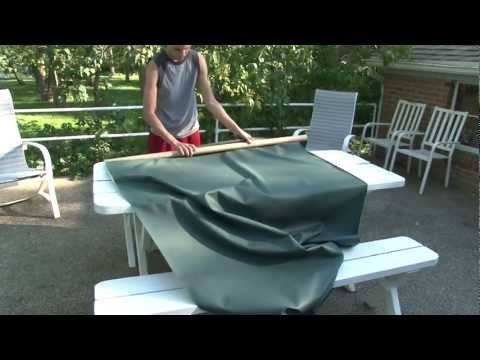 Make Your Own Outdoor Tablecloth and Placemats