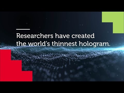Nano-holograms will bring 3D in smartphones