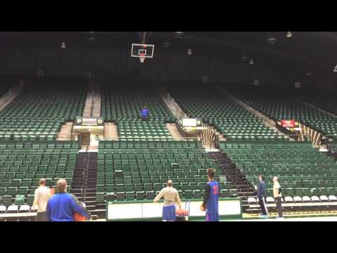 Amazing shot at Boise State shootaround