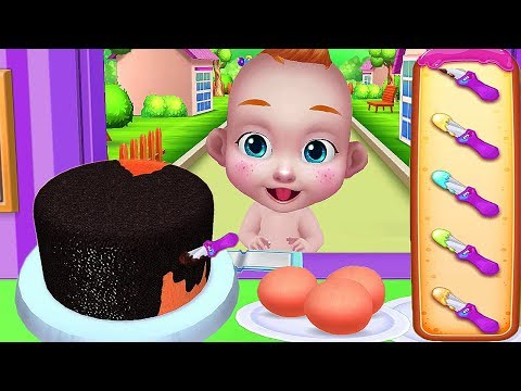 Baby Cake Maker Cooking - Play Fun Beautiful 3d Art Bake Wedding Cakes, Smoothies Games For Kids