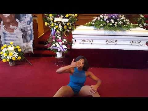 Daamayah Dancing at her Grandmothers Funeral