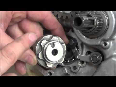 Dirtbike Transmission: Suzuki Style Shift Cam Stopper Detent Assembly and Testing