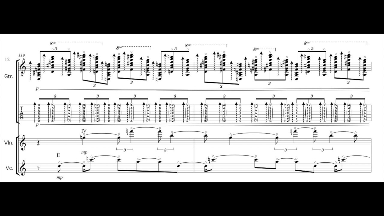 lime tone cave for guitar, violin, and violoncello Youtube