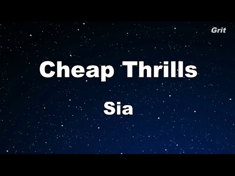 Cheap Thrills - Sia Karaoke 【With Guide Melody】 Instrumental
