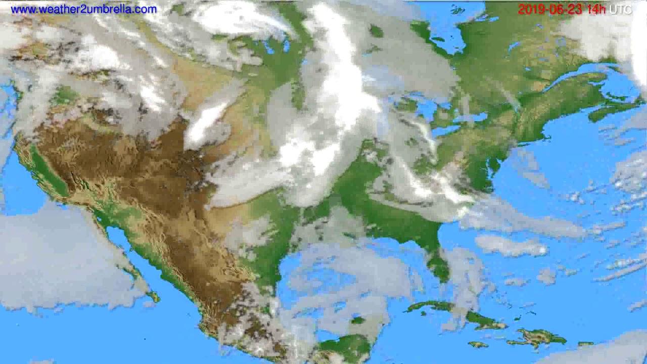 Cloud forecast USA & Canada // modelrun: 12h UTC 2019-06-21