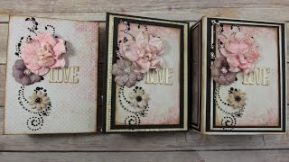 Embellishing Mini Album Covers & Pages in a simple, quick, easy, and Beautiful way without needing a lot of supplies!!! These mini album are made using Prima ...