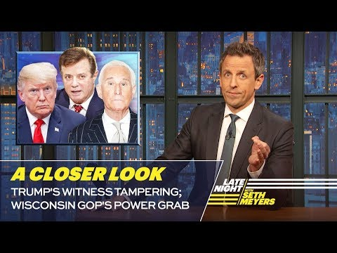 Trump's Witness Tampering; Wisconsin GOP's Power Grab: A Closer Look