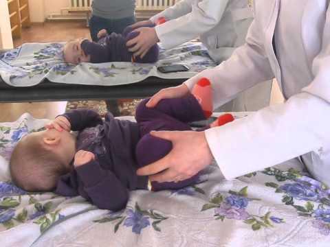 массаж для детей при дисплазии тазобедреных суставов видео