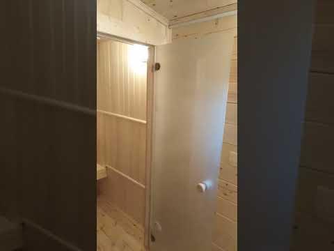 Обзор интерьеров перевозной готовой бани 2,3х8,0 м
