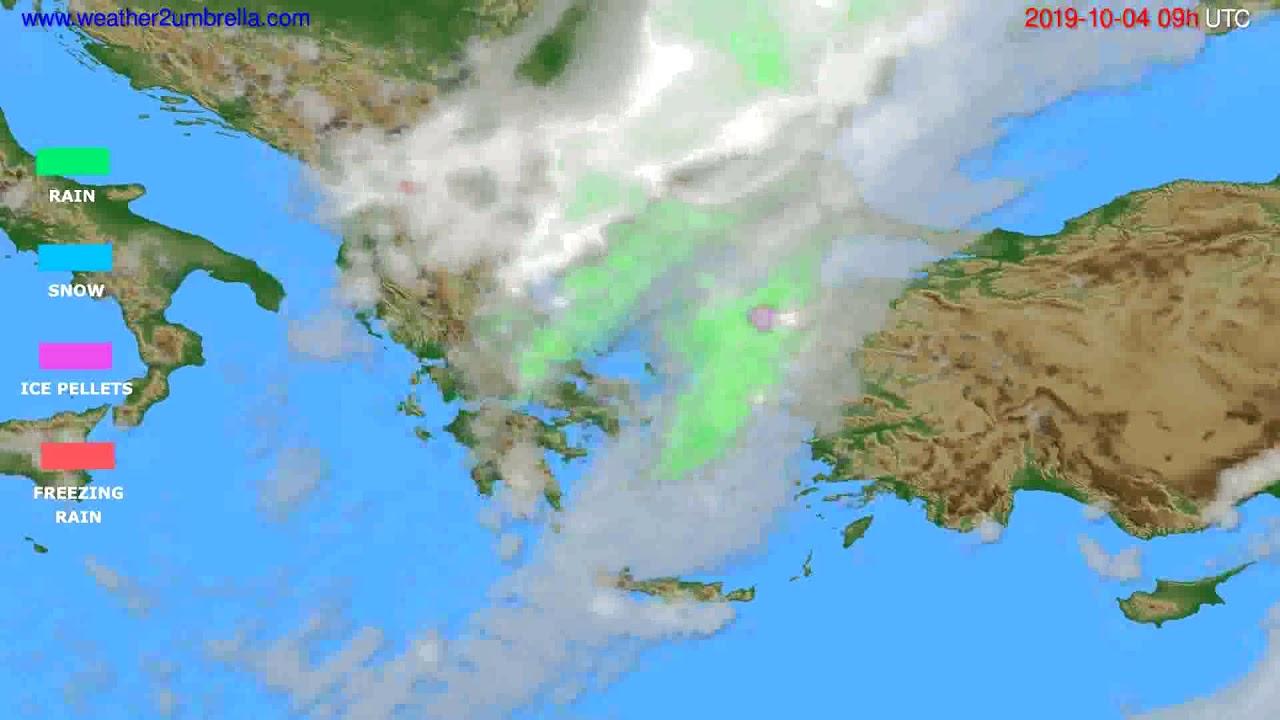 Precipitation forecast Greece // modelrun: 12h UTC 2019-10-02
