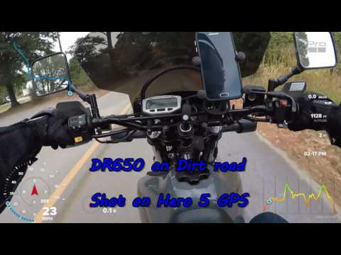 DR650se Dirt Roads Hero 5 in 4k and GPS!