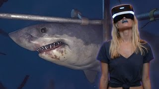 Today we are going to play some VR Worlds Ocean Descent: Dive into the Deep. This is more of a cinematic experience, but it's still really scary, and impressive to see what the PlayStation VR (PSVR) can do for the future of virtual reality gaming. :) Please subscribe and hit the like button to see more of my videos!www.VrLabsTV.comhttps://twitter.com/VR_Labs_TVFollow us on Twitter for more VR News, and Gameplay