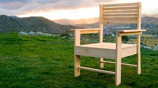 Making A Patio Chair   Simple Diy Woodworking Project