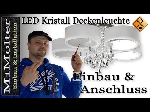 Yorbay LED Kristall Deckenleuchte - Einbau und Anschluss von M1Molter