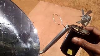 MINI SOLAR POWER PLANT Concentrating solar Parabolic Reflector...