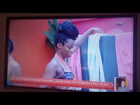 BBNaija 2018 Housemates, Anto, Kloe, Bambam, Nina, Bathe Outside