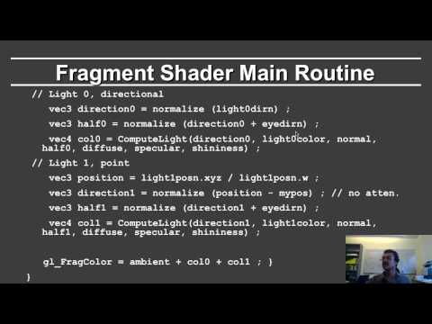 Online Graphics Course OpenGL Shading: Fragment Shader