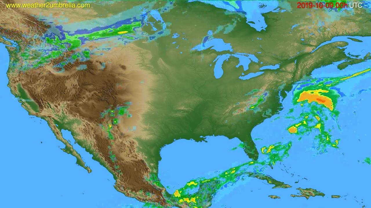 Radar forecast USA & Canada // modelrun: 12h UTC 2019-10-08