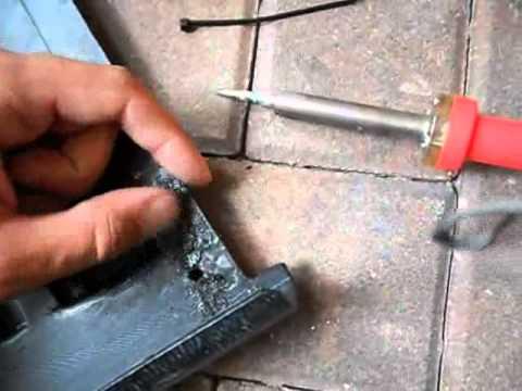 how to patch broken plastic