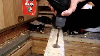 07. Skil Torro - сверление перьевое сверло 40мм