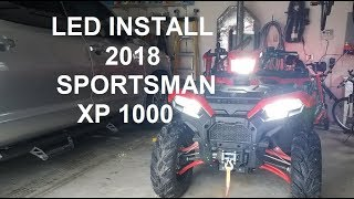 5. LED Headlight Bulb Install on 2018 Polaris Sportsman XP 1000 ATV