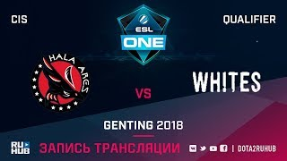 Hala Ares vs Whites, ESL One Genting CIS Qualifier, game 1 [Jam]