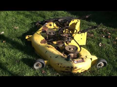 HOW TO REPLACE Loud Noisy DECK BEARINGS on a JOHN DEERE LA145. Riding Lawnmower problem FIXED!