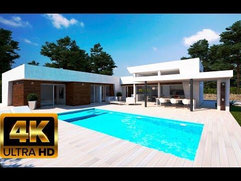 625 000€ Новые дома в стиле Хай Tек в Испании/Виллы в современном стиле/Кальпе/Коста Бланка