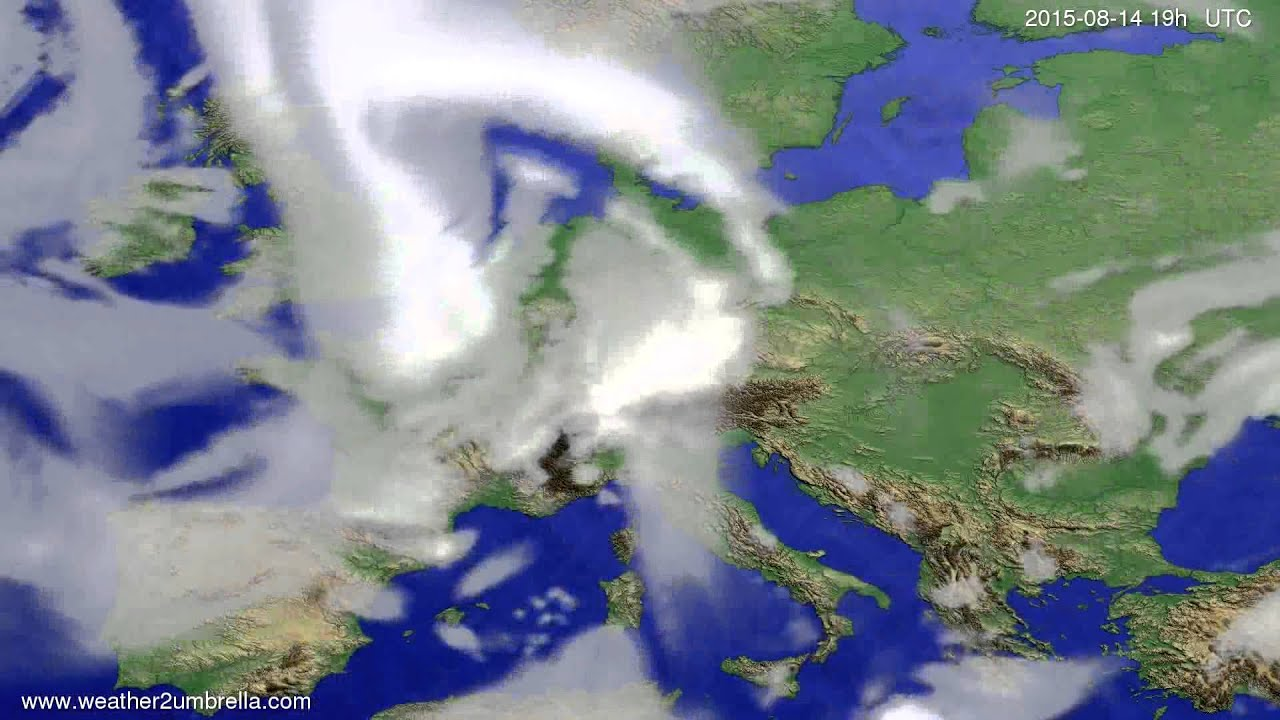 Cloud forecast Europe 2015-08-11