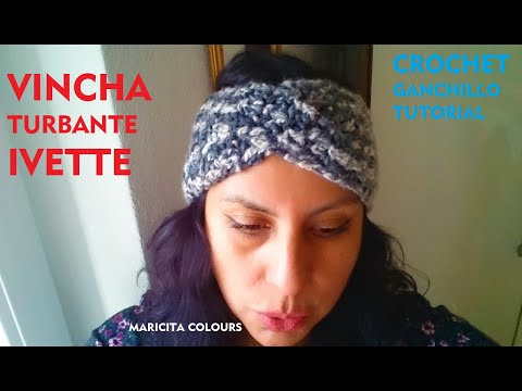 "Turbante Vincha A Crochet ""Ivette"" Por Maricita Colours Tutorial Gratis"