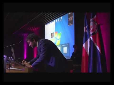 Luis Hinrichs de Microsoft Chile en Seminario de Marketing y Tecnologias como Herramientas de Innovacion para las Empresas