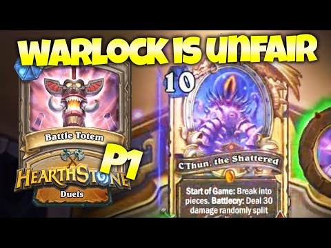 Warlock is BEYOND BROKEN w/ New C'thun P1 - 12-0 Duels Run | Zalae