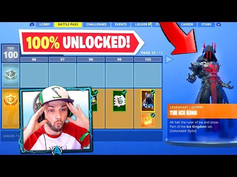 *NEW* SEASON 7 BATTLE PASS (100% UNLOCKED) - Fortnite: Battle Royale!