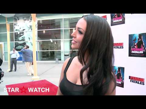 "Scheana Marie red carpet interview at ""Femme Fatales"" season 2 premiere screening"