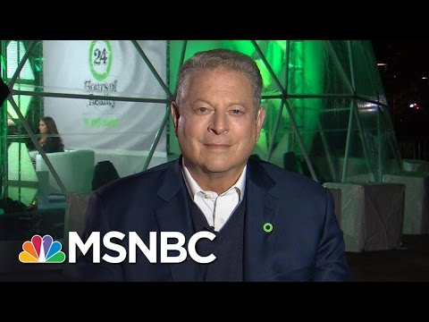 Al Gore Talks Meeting With Donald Trump , Climate Change, Electoral College