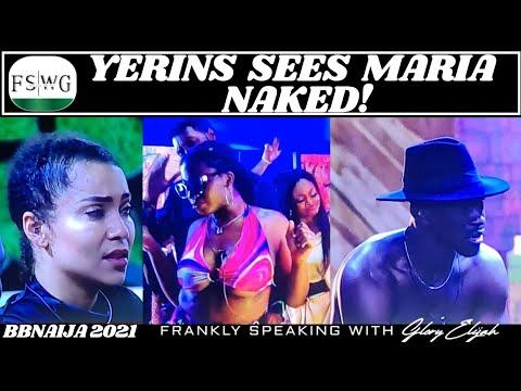 BBNaija 2021 Saturday Night Party: Yerins Sees Maria Nak!ed (Video)