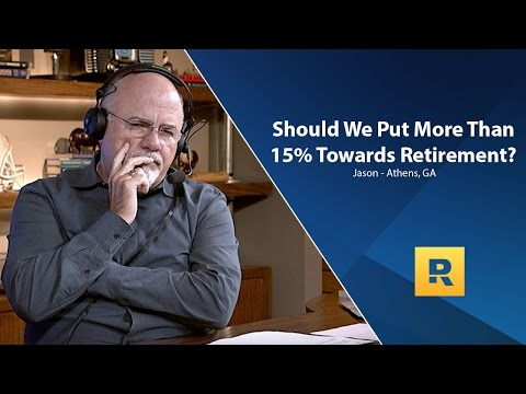 Should We Put More Than 15% Of Income Towards Retirement?