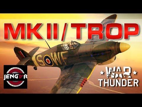 War Thunder Realistic: Hurricane Mk IIB/Trop [Devastating] видео