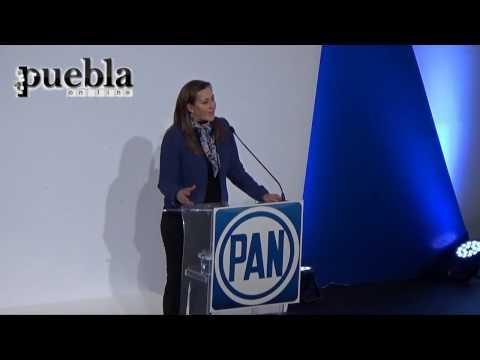 Martha Erika Alonso agradece a la militancia panista de Puebla