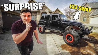 SECRETLY TUNING MY DAD'S LS3 SWAPPED JEEP! **SURPRISE** by Evan Shanks