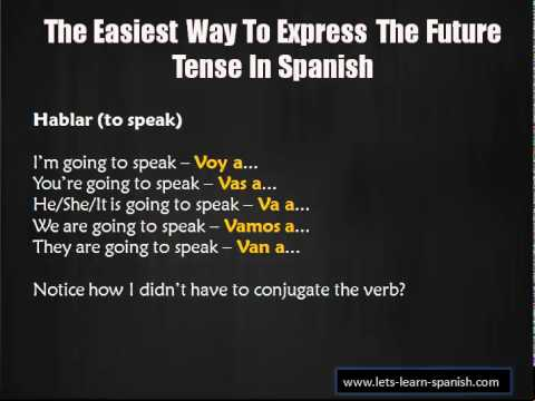 The Easiest Way To Express The Future Tense In Spanish