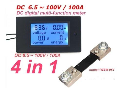 4 In1 DC digital multi-function meter.