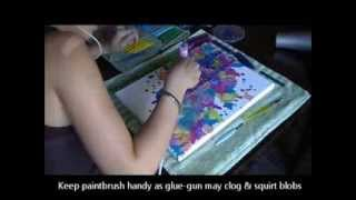 Melted Crayon Painting - Time Lapse & Directions - YouTube