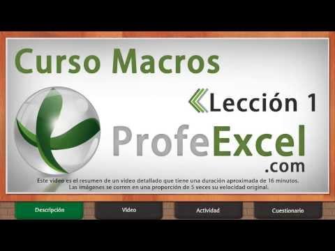 Curso de Excel 2013 Macros (Completo) - Lección 1